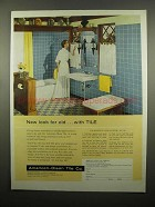 1954 American-Olean Tile Ad - New Look for Old
