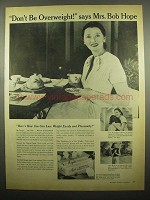 1954 Ayds Reducing Plan Vitamins Ad - Mrs. Bob Hope