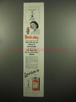 1954 Lavoris Mouthwash Ad - Here's Why