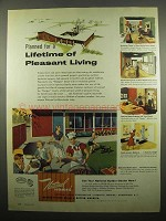 1954 National Homes Ad - Lifetime of Pleasant Living
