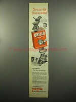 1954 Brillo Soap Pads Ad - Cleans Pans Fast