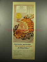 1954 French's Mustard Ad - Baked Ham