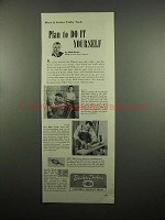 1954 Black & Decker Ad - Utility Drill, Saw