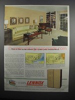 1954 Lennox Heating and Cooling Ad - The Crime