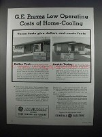 1954 G.E. Air-Wall System Heating & Cooling Advertisement