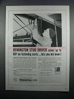 1954 Remington Stud Driver Ad - Saves on Fastening