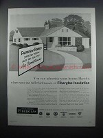 1954 Owens-Corning Fiberglas Insulation Ad - Advertise