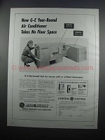 1954 G.E. Horizontal Unit Air Conditioner Ad