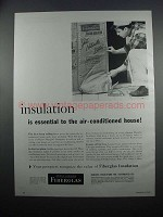 1954 Owens-Corning Fiberglas Insulation Ad  - Essential