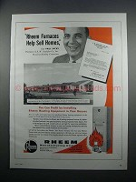 1954 Rheem Furnaces Ad - Help Sell Homes Says Paul Sacks