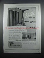 1954 Pella Wood Folding Doors Ad - Natural Beauty