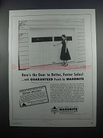 1954 Masonite Dorlux Panels for Garage Doors Ad