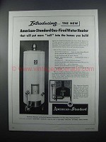 1954 American-Standard Gas-Fired Water Heater Ad