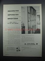 1954 Libbey-Owens-Ford Blue Ridge Patterned Glass Ad