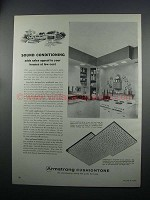 1954 Armstrong Cushiontone Ceiling Tile Ad