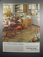 1954 Armstrong Embossed Inlaid Linoleum Ad - Style 5310