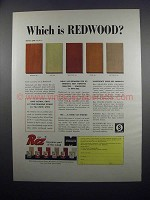 1954 Monsanto Rez Wood Finish Ad - Which is Redwood?