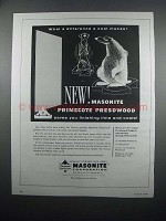 1954 Masonite Primecote Presdwood Ad - What Difference
