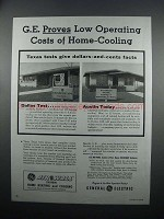 1954 G.E. Air-Wall System Heating & Cooling Ad