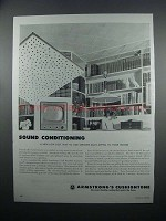 1954 Armstrong's Cushiontone Ceiling Tile Ad