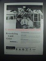 1954 Owens-Corning Fiberglas Insulation Ad - Remodeling