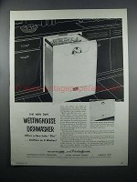 1954 Westinghouse DWC and DWD-24 Dishwashers Ad