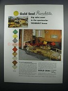 1954 Congoleum-Nairn Gold Seal Ranchtile Linoleum Ad