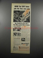 1953 Black & Decker Portable Jig Saw Ad - Do Home Jobs