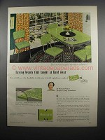 1953 Monsanto Comark Chair Covering Ad - Lasting Beauty