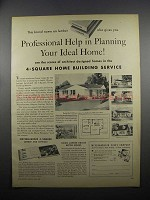 1953 Weyerhaeuser 4-Square Home Building Service Ad
