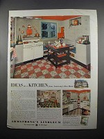 1953 Armstrong's Linoleum Ad - Ideas for a Kitchen