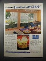 1953 Pittsburgh Plate Glass Ad - It's Always Open-House