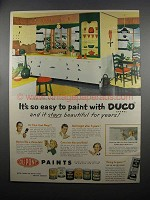 1953 Du Pont DUCO Paint Ad - It's So Easy