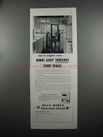 1953 Libbey-Owens-Ford Blue Ridge Patterned Glass Ad