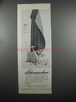 1953 Schumacher's Amherst Upholstery Fabric Ad