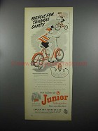 1953 AMF Junior Velocipedes Roadmaster Sidewalk Bike Ad