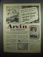 1953 Arvin All-Channel TV Ad - One-Knob Tuning