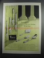 1953 International Sterling Silverware Ad - Prestige