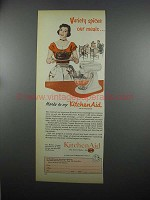1953 KitchenAid Food Preparer Ad - Variety Spices Meals