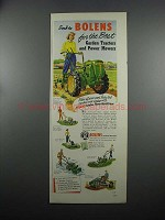 1953 Bolens Ad - Power-Ho Deluxe Cultivator