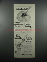 1953 O-Cedar Dust Mop and Sponge Mop Ad