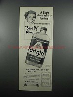 1953 O-Cedar Dri-Glo Furniture Polish Ad