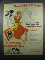 1953 Tide Detergent Ad - You Never Had It So Clean!