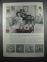 1953 Reed & Barton Pilgrim Sterling Service Ad