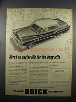 1953 Buick Car Ad - Easier Life for the Busy Wife