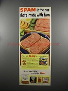1953 Hormel SPAM Ad - One That's Made with Ham