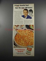 1953 Franco-American Spaghetti Ad - Boy's Favorite Food
