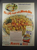 1953 Minute Rice Ad - Hawaiian Supper Recipe
