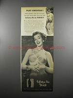 1953 Formfit Inflation Bra Ad - Flat Chested?