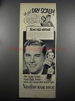 1952 Vaseline Hair Tonic Ad - Oh-Oh Dry Scalp!